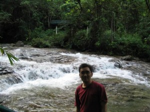 Me at the Batu Berangkai Waterfall