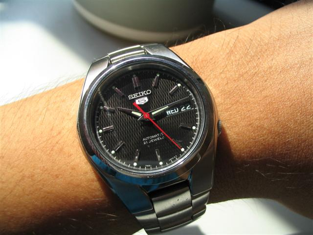 Seiko 5 on my hand