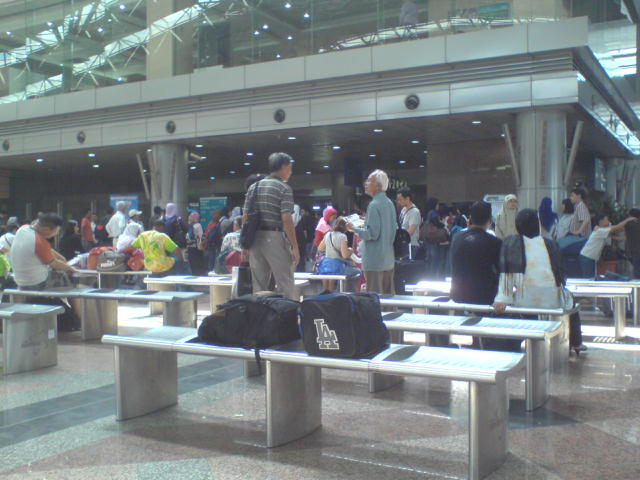People waiting at KL Sentral