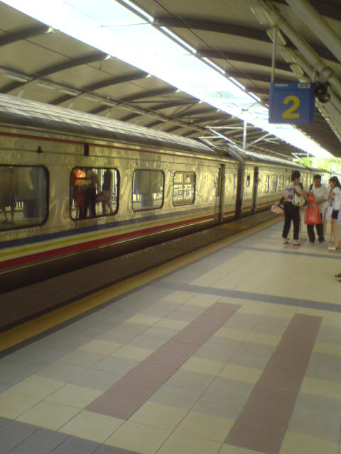 Train arrived at Kampar