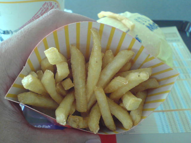 Inside the McD's fries