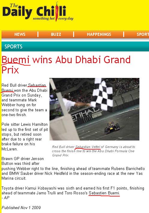Buemi wins Abu Dhabi Grand Prix