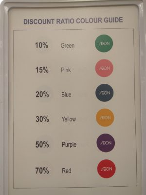 AEON Discount Colour Code